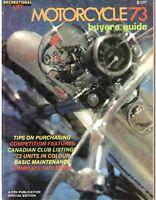 """REVUE """"BUYER'S GUIDE"""" DES MOTOS 1973 - TOUS LES MODÈLES"""