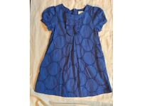 Mini Boden 2-3 Year Old Girls Dress In Blue Cotton - Lined And Worn Twice