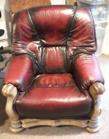 Burgundy Leather Suite