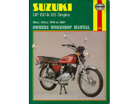HAYNES SUZUKI GP 100 & 125 SINGLES WORKSHOP MANUAL 1978 - 1987