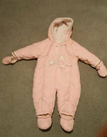 Girls snowsuit 6-9 months