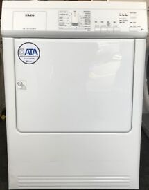 AEG 7KG VENTED TUMBLE DRYER, ALL IN WORKING ORDER... INC 1 MONTHS WARRANTY.