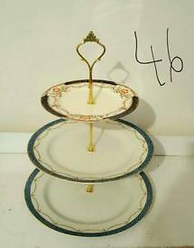 vintage china 3 tier cake stands
