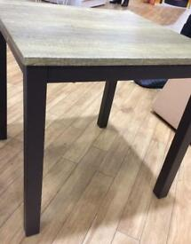 2 x oak look end / side tables brand new in box