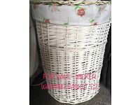 Washing Basket - White Wicker