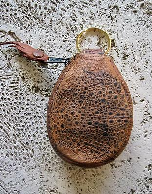 New Bufo Marinus Cane Toad Leather Collectible Coin Purse Natural Brown Teardrop