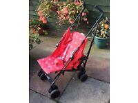 Babystart red pushchair