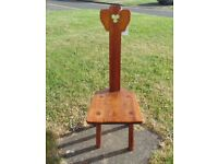 (#380) unusual old wooden chair (Pick up only, Dy4 area)
