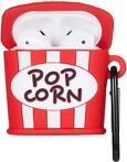 Cartoon Silicone Case voor Apple Airpods - popcorn - met kar