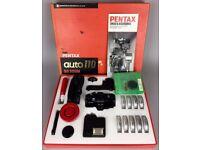 ASAHI OPTICAL Co PENTAX -AUTO 110 SLR SYSTEM- BOXED CAMERA, LENSES & ACCESSORIES