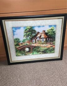 Hand sewn chinese picture frame