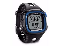 Garmin Forerunner 15 GPS Running Watch and Activity Tracker - Black/Blue, Large