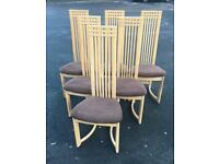 6 Stunning high back Dining Chairs Re Covered