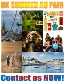 Summer AU Pair offer for families £75 registration fee