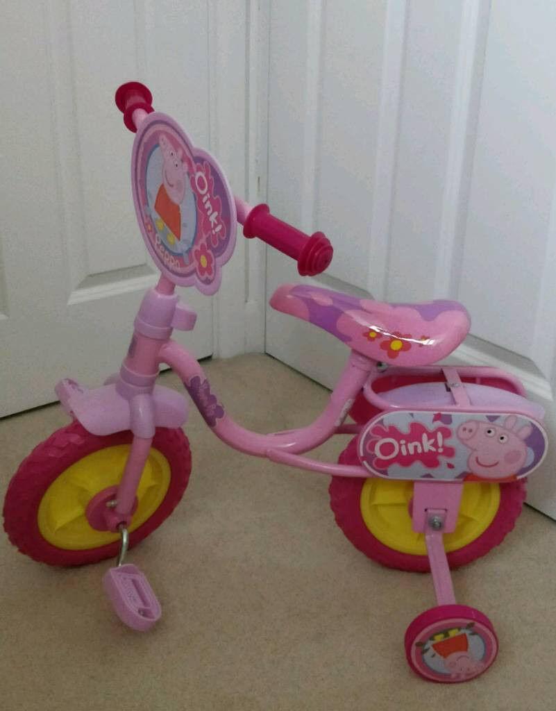 """Peppa Pig 10"""" Kids Bike with Stabilisers (Brand New)"""
