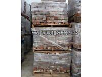 Cheshire Red Reclaimed Handmade Imperial Stock 68mm Bricks   Pack of 325 Bricks   £410 (£1.26/Brick)