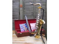 Sonora Tenor Saxophone as new condition.