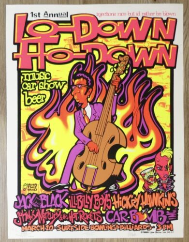 1999 Jack Black - Surfside Beach Concert Poster s/n by Thief, Wood, & Martin