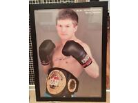 Signed Ricky Hatton photo in black frame