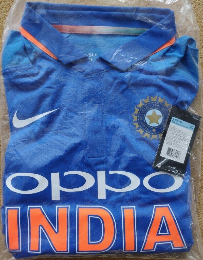 b04e07a1 BNWT Original Genuine NIKE Dri-Fit Jersey Latest INDIA Cricket T-Shirt,  World Cup 2019 ODI Medium | in Kingsbury, London | Gumtree