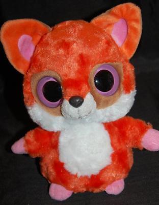 Aurora Handgefertigt Orange & Friends Baby Fox Große Augen Stofftier Lovey