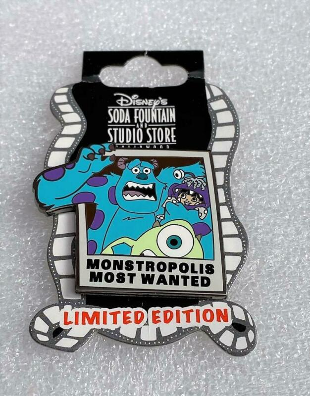 Disney DSF Monsters Inc 3D Mike & Sulley Monstropolis Most Wanted LE 300 Pin