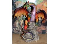Dragon Ornaments 16 in total. plus 1 Dragon Chess set. Job lot. Great for selling on Individually.