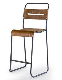 Vintage Industrial Stacking Cafe Bar Chair