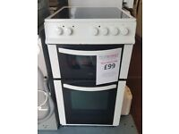 50cm wide cooker oven ceramic hob reconditioned 3 month guarantee installation