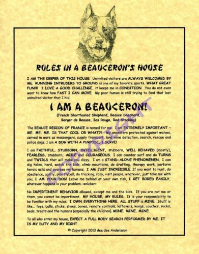 Rules In A Beauceron