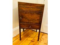 Antique Georgian Mahogany Wood Commode Chest Nightstand