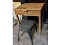 Pitch pine desk / table flip up lid