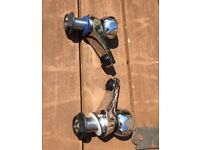 Silver chrome sink taps