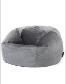 ICON Milano Velvet Grey Bean Bag