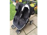 Britax b agile twin buggy . Double pushchair. Stroller . Pram
