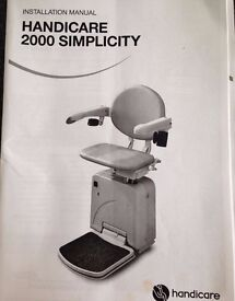 New in box HANDICARE 2000 SIMPLICITY STAIRS LIFT