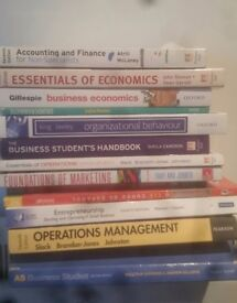 trent uni Business studies books. org behaviour acc and finance marketing operations economics