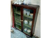 Glass cabinet great condition open to offers