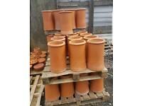 Roll top chimney pots