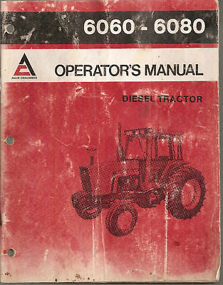 Allis Chalmers 6060-6080 Tractor Operators Manual