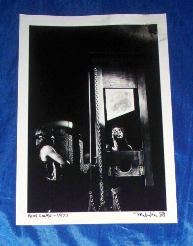 "Alice Cooper Guillotine 1977 Mark Weiss 12"" X 19"" Black & White Photo Print"