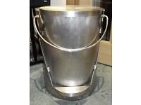 Stainless Steel Heavy gage Bucket fully welded for liquids with pedal operated Lid