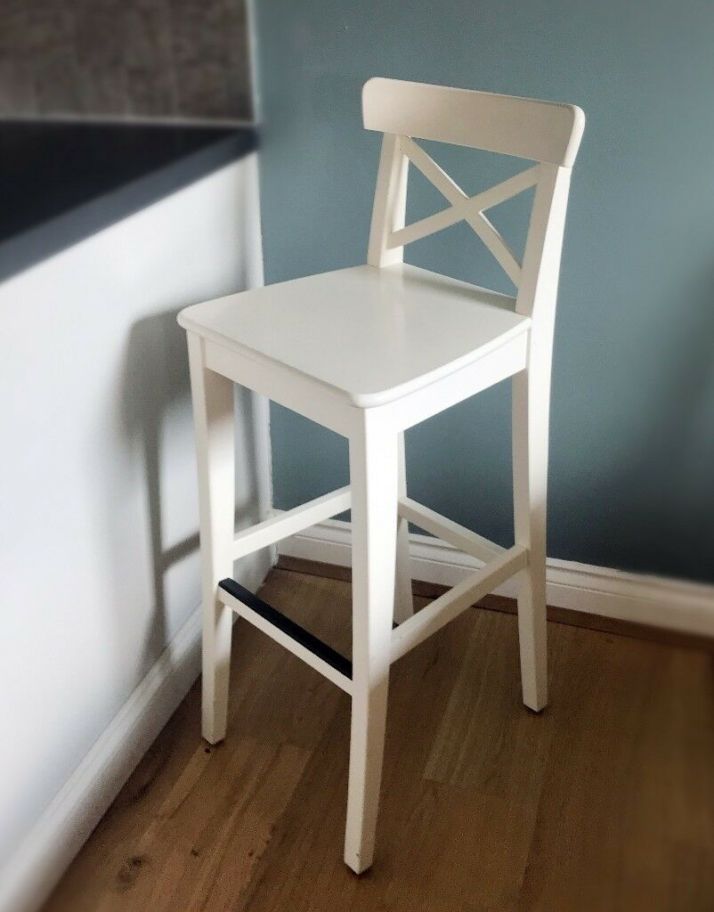 newest d9507 01acd Ikea Ingolf Bar Stool with Back Rest | in Bromley, London | Gumtree