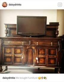 Solid Wood Edwardian Cabinet