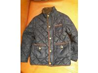 Boy's Navy Blue Quilted Jacket- Quality Mayoral brand Excellent condition Age 8