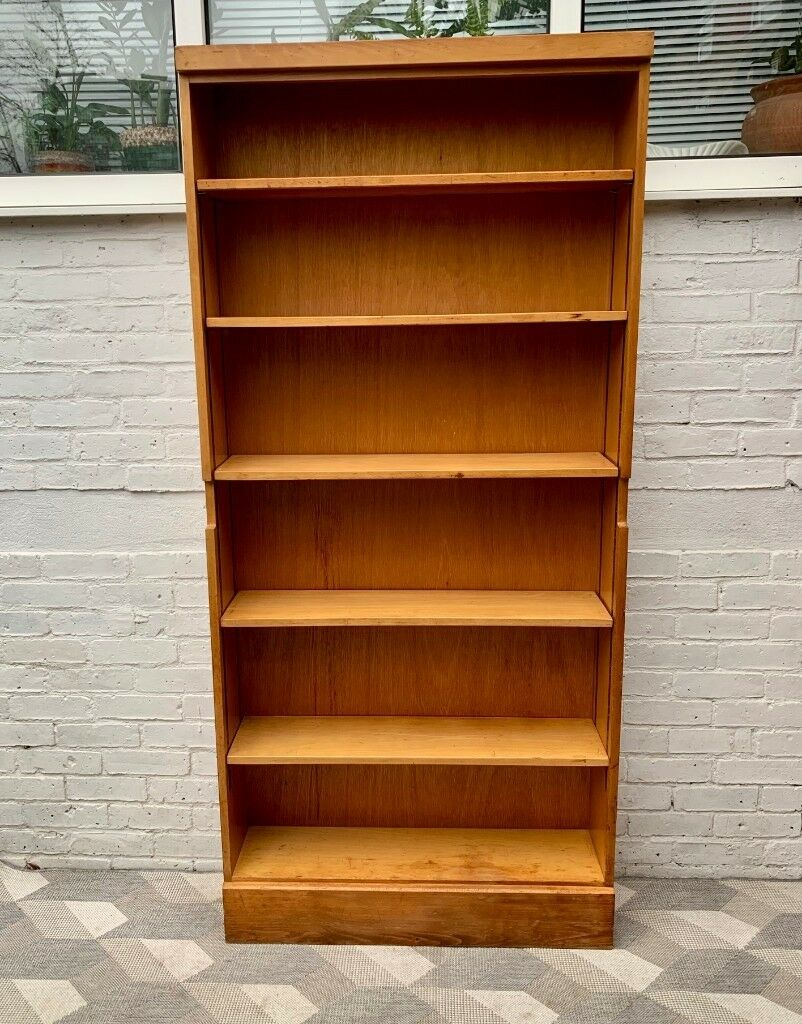 Vintage School Bookshelf Cabinet Shelves 976