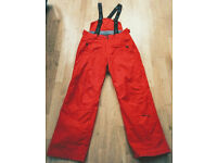 SURFANIC SKI SNOWBOARD PANTS RED - LARGE