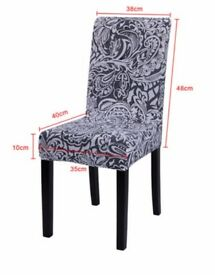 Dining Room Stretch Chair Covers, removable and machine washable ... 6 beautiful designs