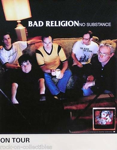Bad Religion 1998 No Substance Original Tour Promo Poster