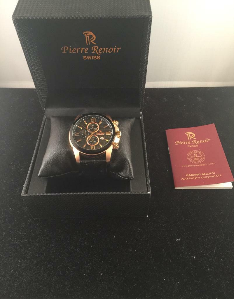 Pierre Renoir Chronograph Swiss watch for men.
